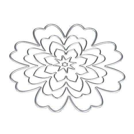 TOOGOO corte DIY de la flor muere Plantillas Stamper para la tarjeta de papel de Scrapbooking