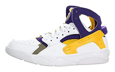 best website 2c21b 07efb Nike  705281-101  Flight Huarache Grade School Sneakers NIKEWHITE UNVERSITY  Gold Court PURPLEM