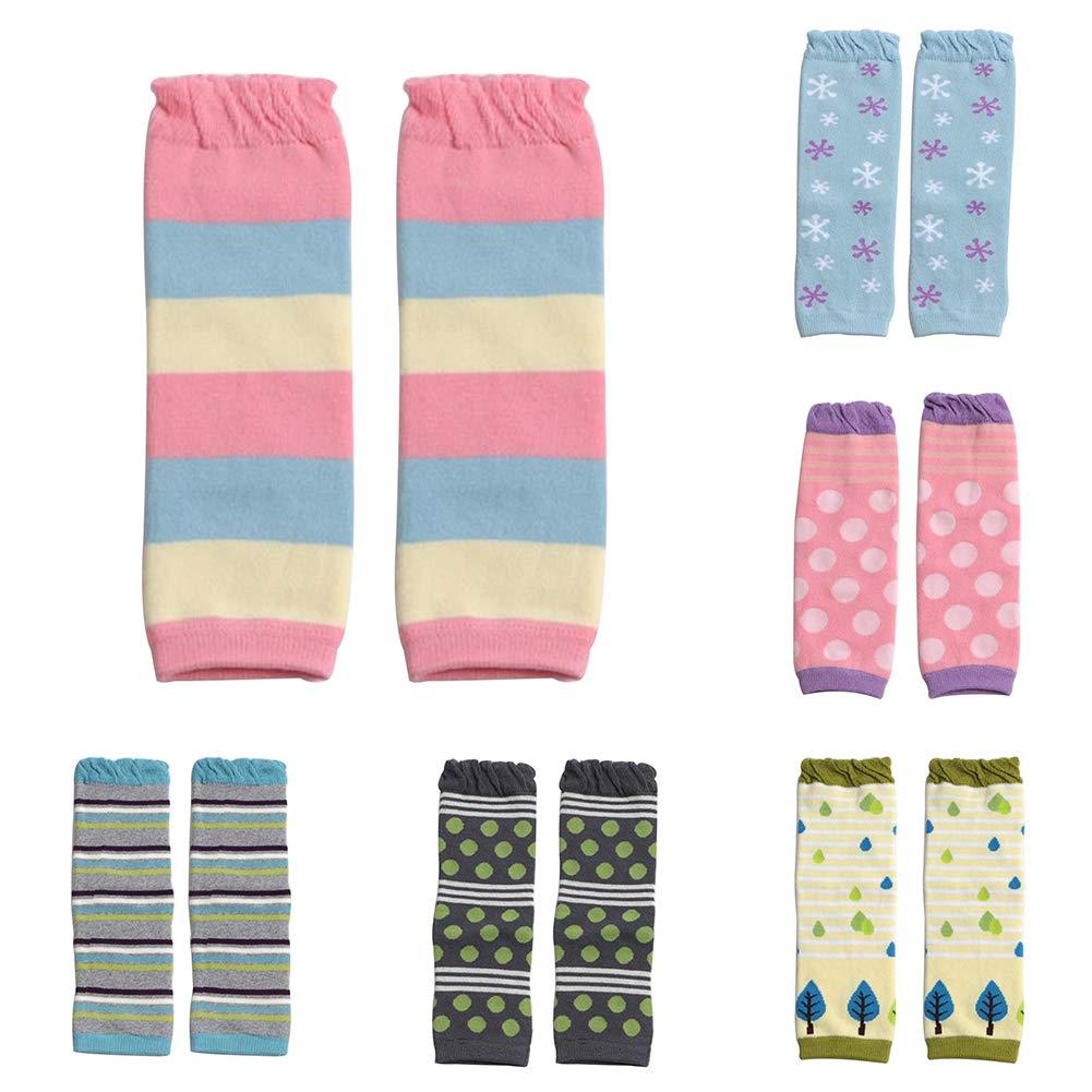 dontdo Fashion Stripe Dots Print Knee Length Socks Toddler Baby Boys Girls Leg Warmers