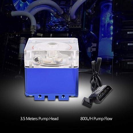 Richer-R 3000RPM Radiador de Enfriamiento para Ordenador,800L/H Refrigerador Bomba de de Agua 3.5m,Disipador de Calor para PC(Azul): Amazon.es: Electrónica