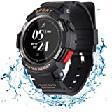 N Newkoin Smart Watch,Sports Watch IP68 Waterproof Supports Running, Cycling, Swimming, Fitness Tracker, Heart Rate Monitor, Calorie, Activity Tracking Sports Smartwatch for Men