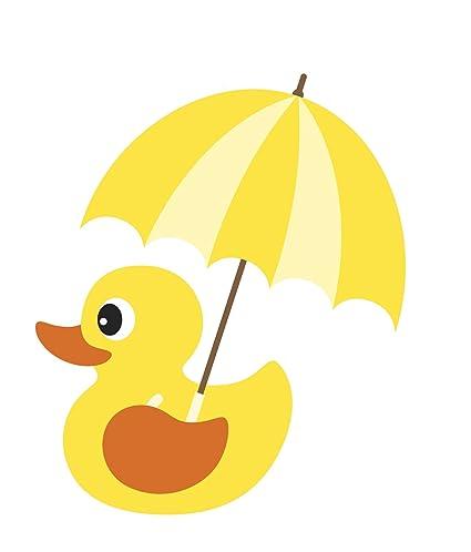Baby Bubble Bath Time Rubber Ducky Vinyl Decal Sticker 12quot Wide Rain Umbrella