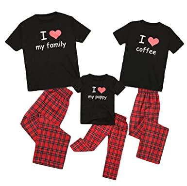 c3f6194055cd Christmas Family Matching Pajamas Set Kids Mom Dad Sleepwear Outfits Clothes  Homewear Set (Kid