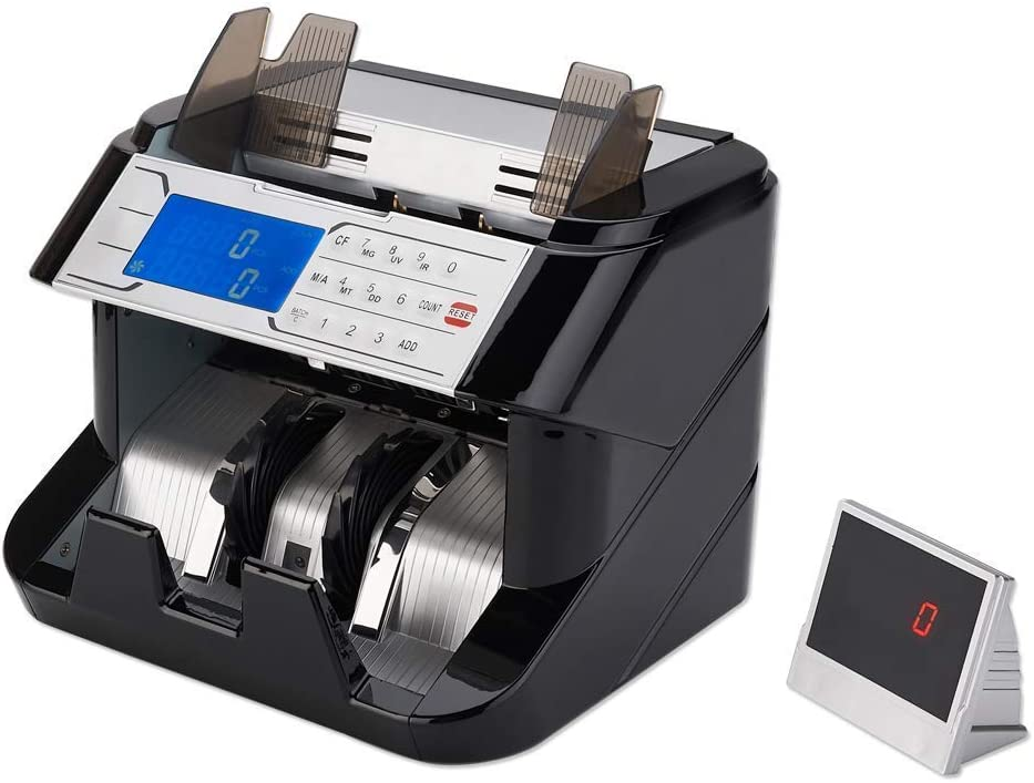 GStar Money Counter with UV/MG/IR/MT/DD Counterfeit Bill Detection Plus External Display and 1 Year Warranty - American Brand & American Sellers (Supreme)