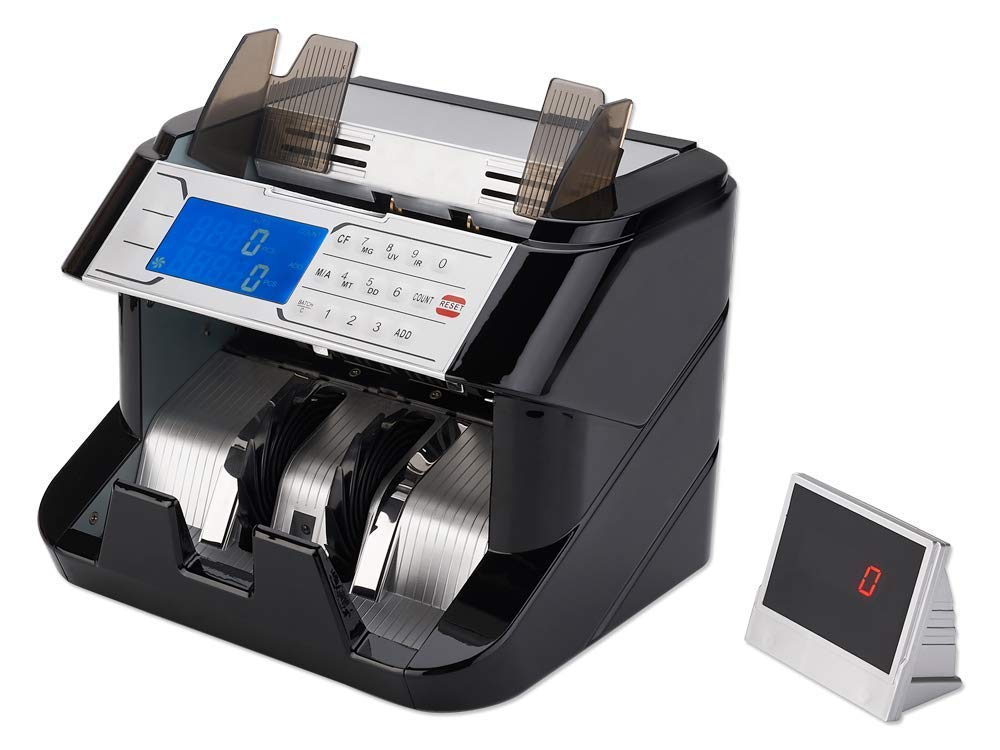 GStar Money Counter with UV/MG/IR/MT/DD Counterfeit Bill Detection Plus External Display and 2 Year Warranty
