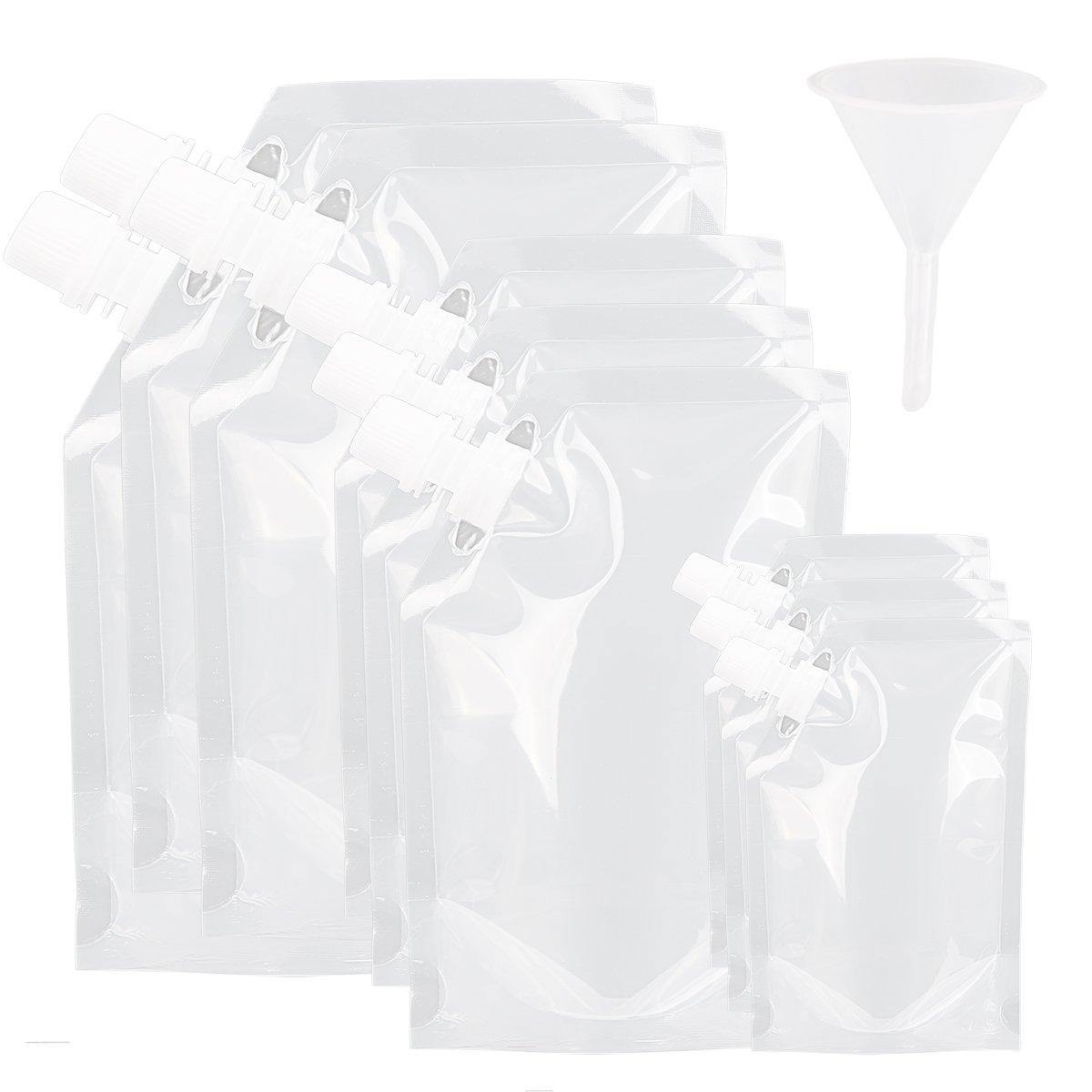 【驚きの値段】 freebily ml/420ml/1000ml 9ピースプラスチックDrinks Flasks LiquorポーチConcealable再利用可能な飲酒ポーチFlasks 235 with Plastic Funnel 235 ml with/420ml/1000ml B07DVT6N3N, 【激安大特価!】 :922a8074 --- a0267596.xsph.ru
