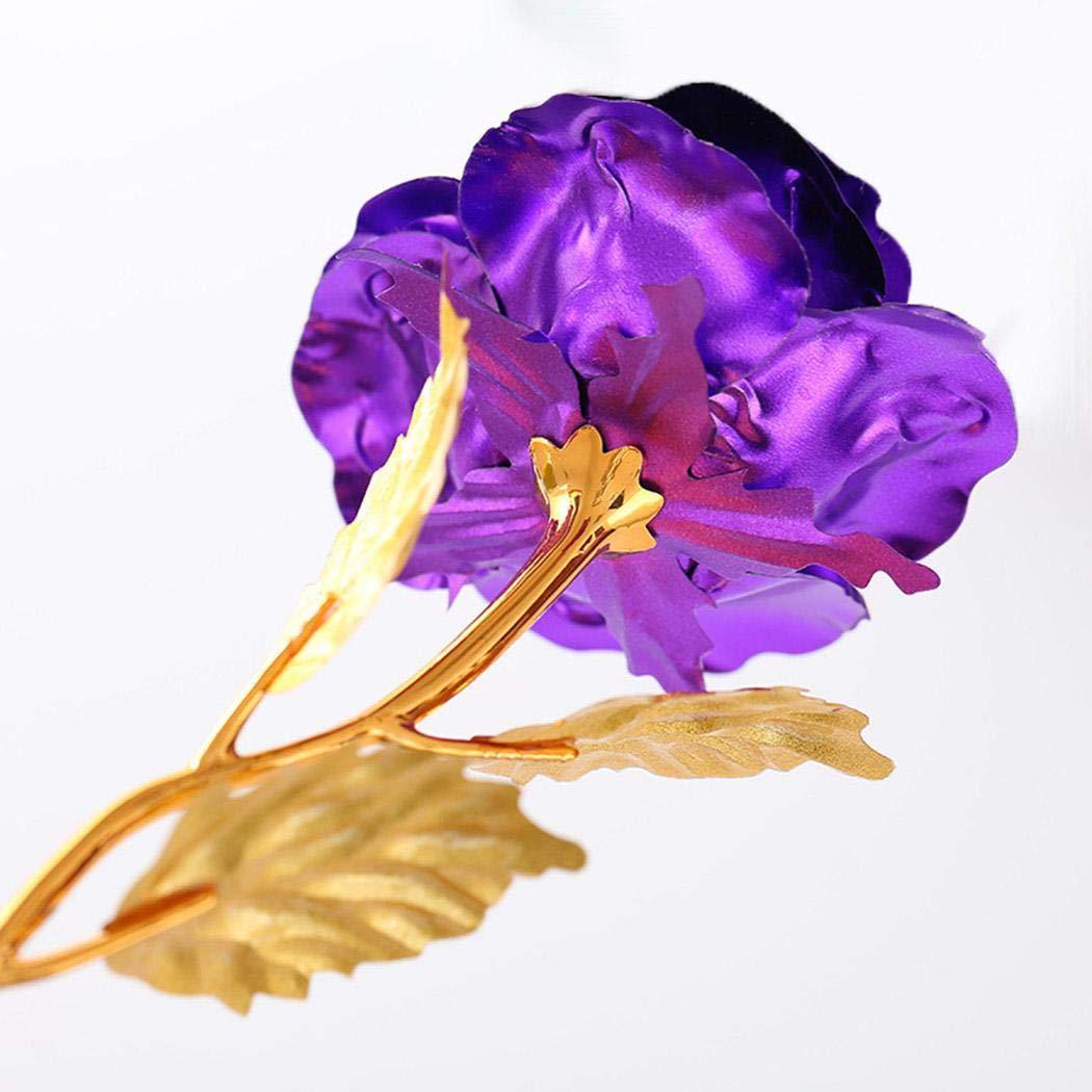 Meihet Fleur Rose plaqu/ée Multicolore Rose Cadeau de Saint Valentin Romantique Objets de d/écoration
