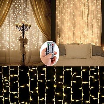Amazon Com Le Led Window Curtain Icicle Lights 306 Led