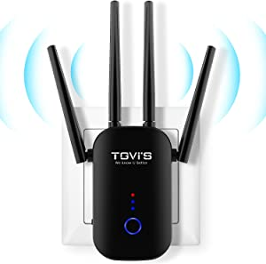 TGVi's WiFi Extender 1200Mbps,WiFi Range Extender 2.4 & 5GHz Dual Band,WiFi Extender with Ethernet Port, WiFi Extenders Signal Booster for Home, WiFi Booster and Signal Amplifier to Whole Home
