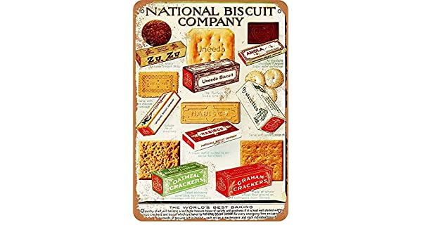 NOT National Biscuit Products Placa de Cartel de Chapa Vintage ...