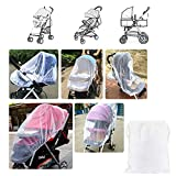 Mosquito Net for Stroller, LEMESO Bug Baby Net Infant Carriers Car Seats Cradles Cribs Bassinet Playpen Travel Outdoor - Universal Elastic Breathable
