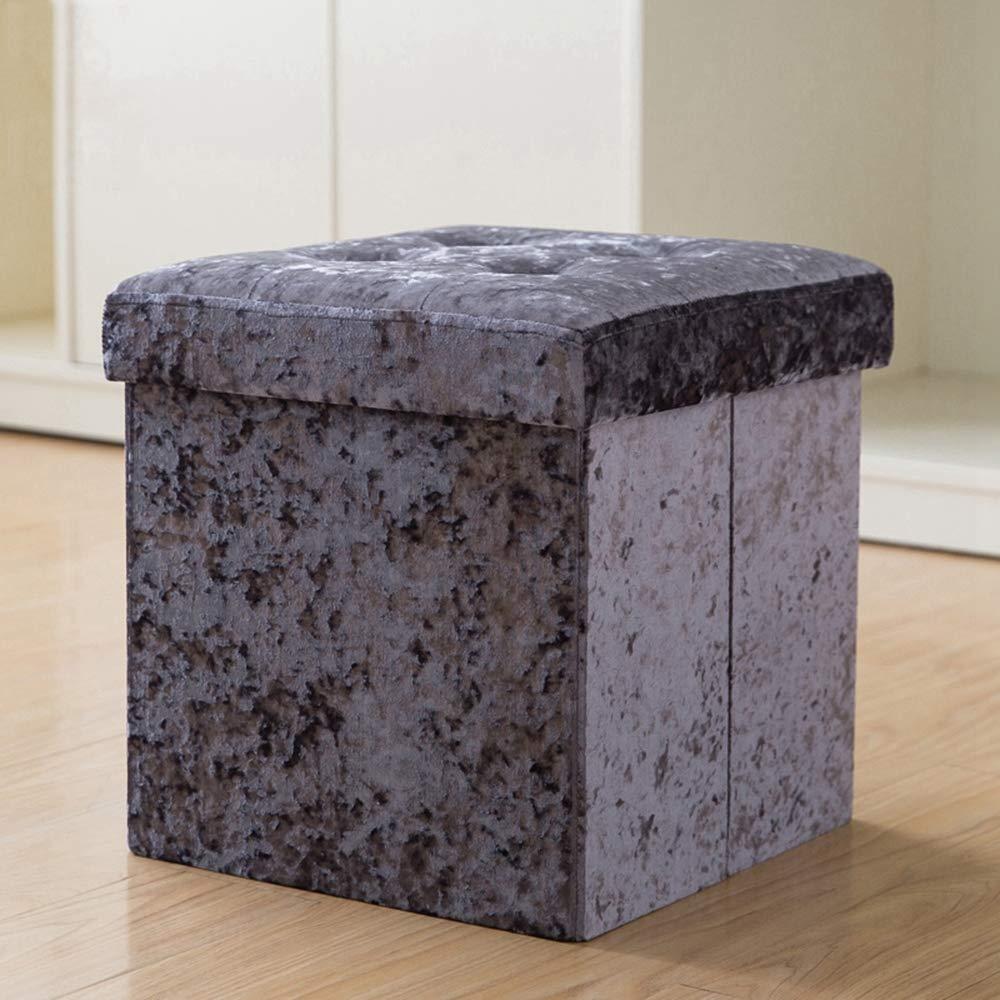 D ZhiGe Storage seat,Rectangular Storage Stool Storage can be Used for Adult Storage Box Multifunctional Folding Fabric Sofa Stool