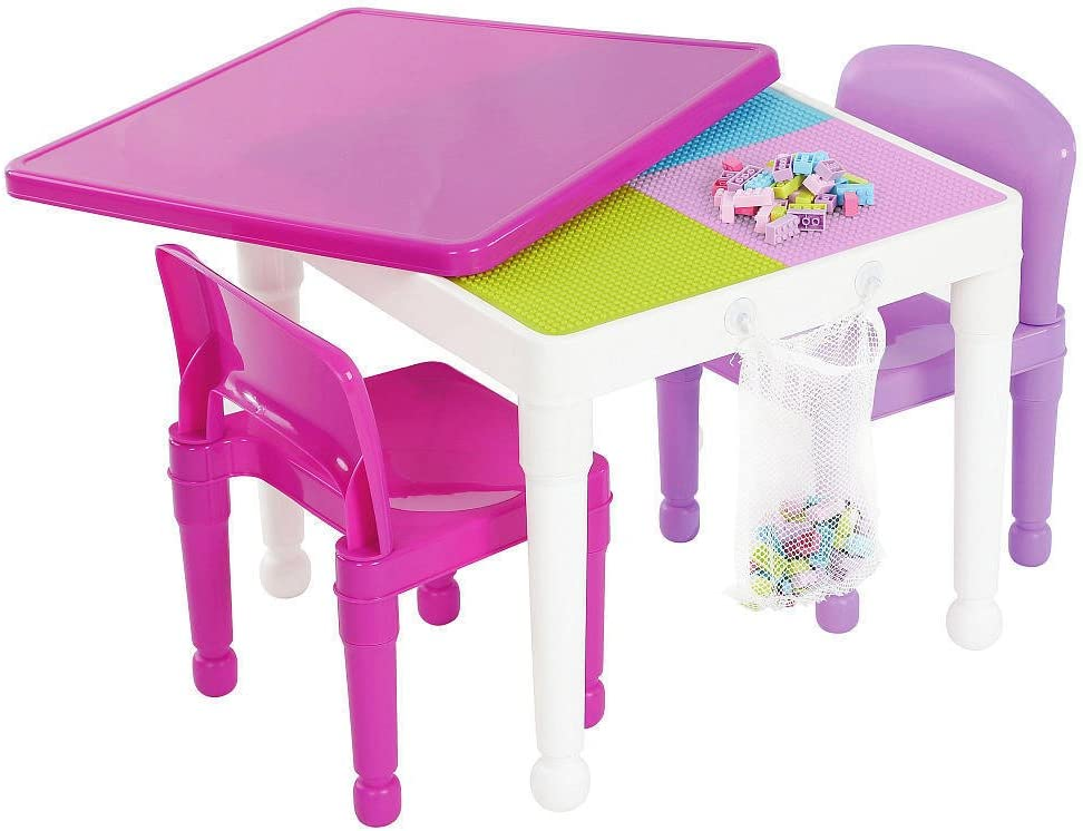 2-in-1 Kids Tot Tutors Construction Table W//chairs