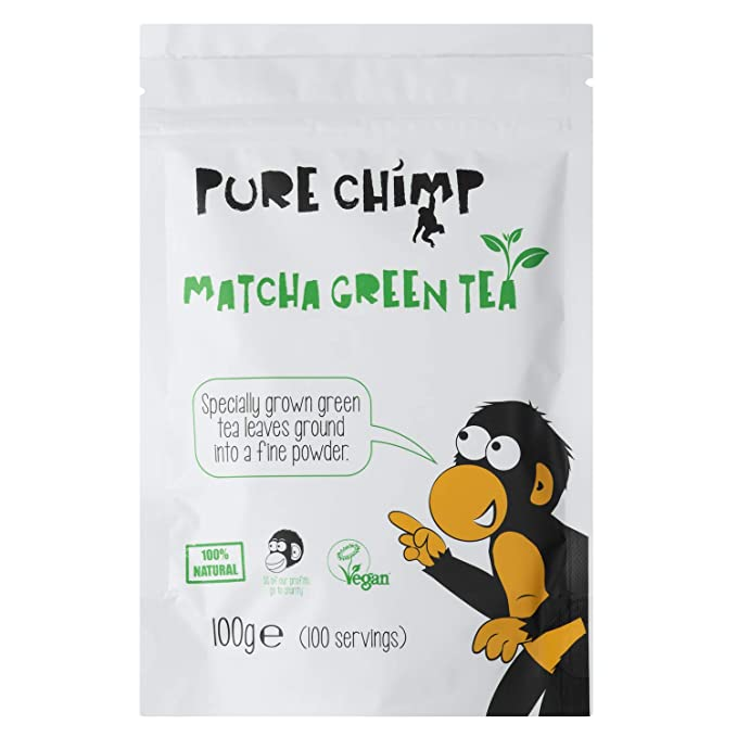 Té Verde Matcha en Polvo 100g de PureChimp. Completamente Natural y Vegano