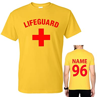 df005cbc8aa Lifeguard Cross + Men s T Shirts and Back Custom Name