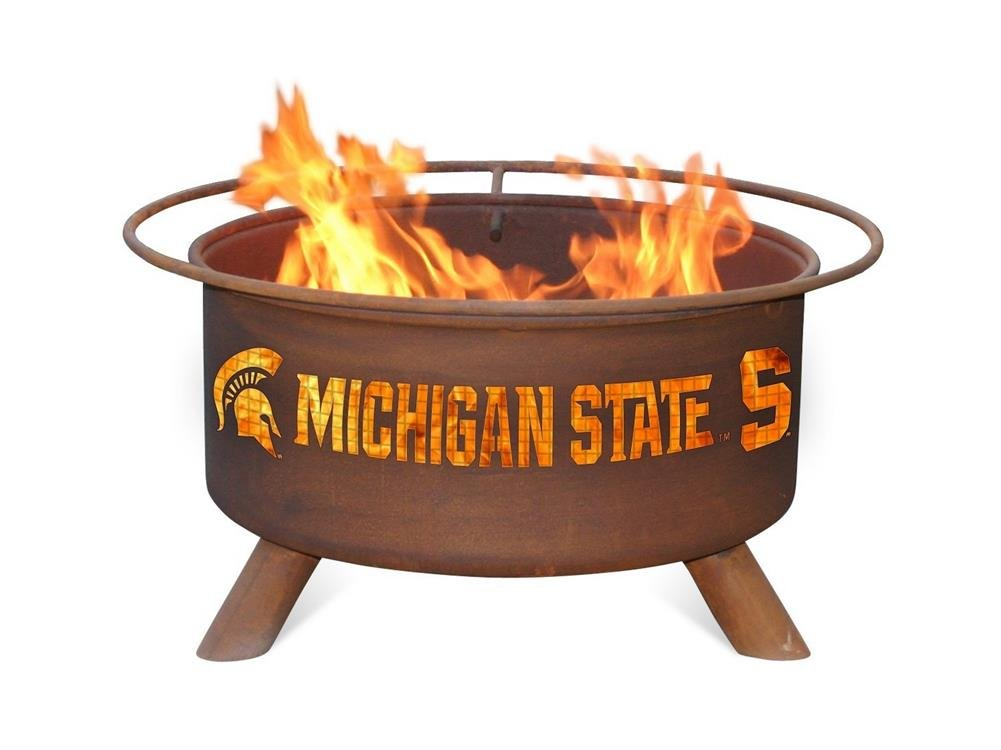 Michigan State University Portable Steel Fire Pit Grill
