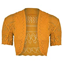 New Women's Knitted Bolero Short Sleeve Shrug