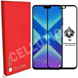 [in Stock] CELLUTION™ Full Glue 100% Coverage 5D Tempered Glass, Full Edge-to-Edge Screen Protector for Huawei Honor 8X (2018) - Black