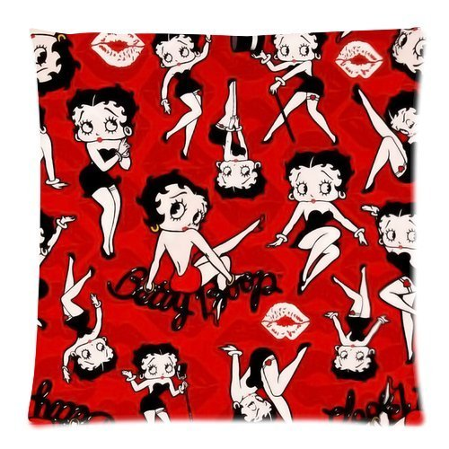 Ur pillowcase betty boop cushion cover Custom lovely girl Pillow Case 18x18 (Twin sides)