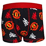 Manchester United FC Official Football Gift 1 Pk Boys Boxer Shorts Blk 11-12 Yrs