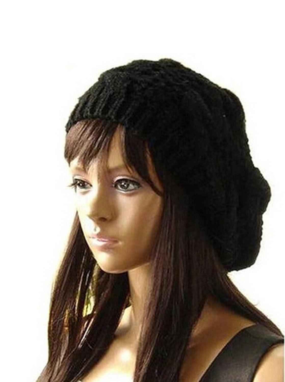 Xinliya Women Winter Knit Crochet Braided Hat Beret Cap Headwear
