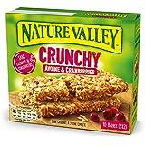 Nature Valley - Barres de Céréales Crunchy Avoine & Cranberries - Boite de 10 Barres de Céréales - Lot de 5 (50 Barres)