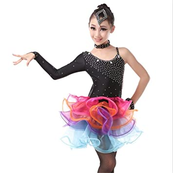 06beea970 JJM Children'S Latin Performance Clothing Wholesale Girls Lace Latin Skirts  Latin Game Suits Adult Dance Dress