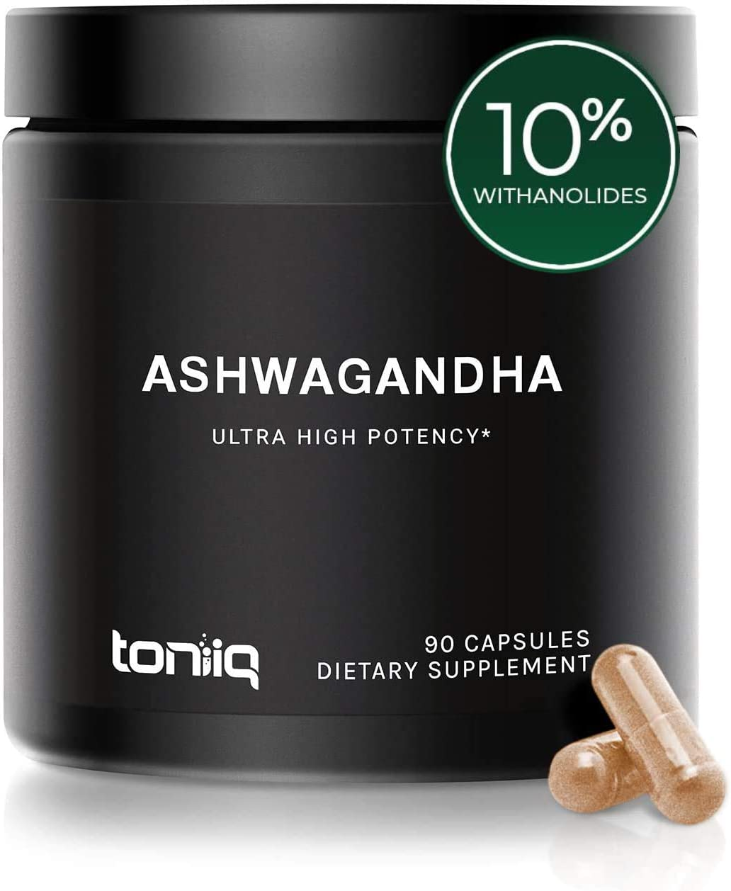 Ultra High Strength Ashwagandha Capsules – 10 Withanolides – 19,5000mg 15x Concentrated Extract – Wild Harvested in India – The Strongest Ashwagandha Anxiety Relief Support Available – 90 Caps