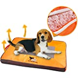 ALL FOR PAWS Pet Cool Mat Breathable Dog Pad Thick Quality Dog Bed -S (Fresh Orange)