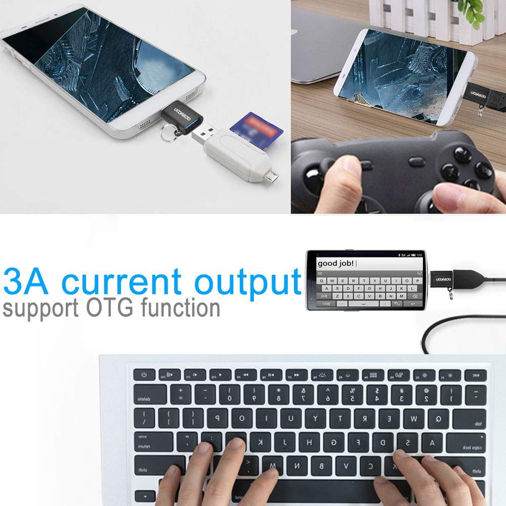 Pixel XL 2XL Galaxy S8 Plus Nexus 5X and Other USBC Devices aceyoon USB C Card Reader Mini Adapter 2 Pack Type C Memory Card Reader SD TF Dual Slot Compatible for Mate 20//20 Pro V20 V30 G6