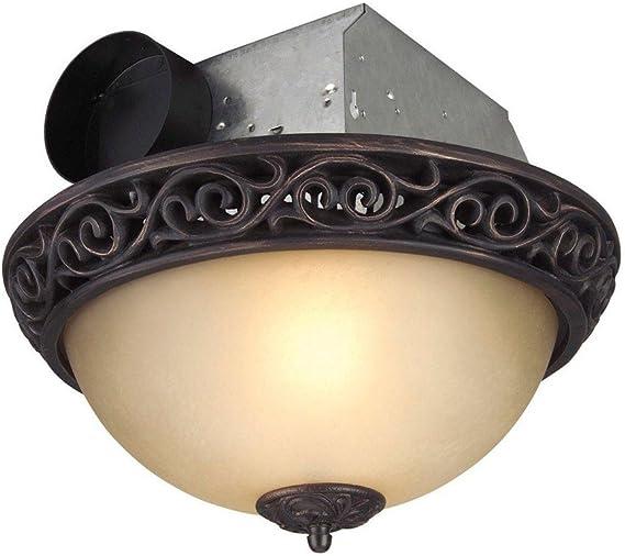 Craftmade Tfv70l Aiorb Bath Vent Exhaust Fan With Light 70 Cfm 3 0 Sone Decibel Oil Rubbed Bronze Ceiling Fans Amazon Com