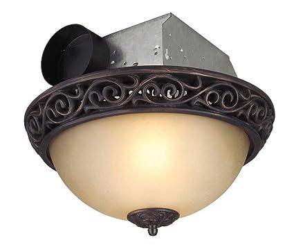 Craftmade Lighting TFV70L AIORB Decorative Bathroom Exhaust Fan, Iron  Scroll Oil Finish
