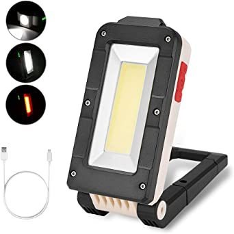 New Foldable LED Work Light COB Car Inspection Lamp Magnetic Camping Torch UK