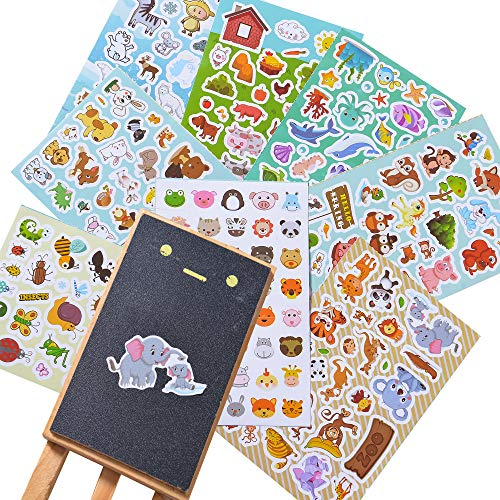 Animal Stickers Stickers For Kids Assortment Set 1300 Pcs 8 Themes