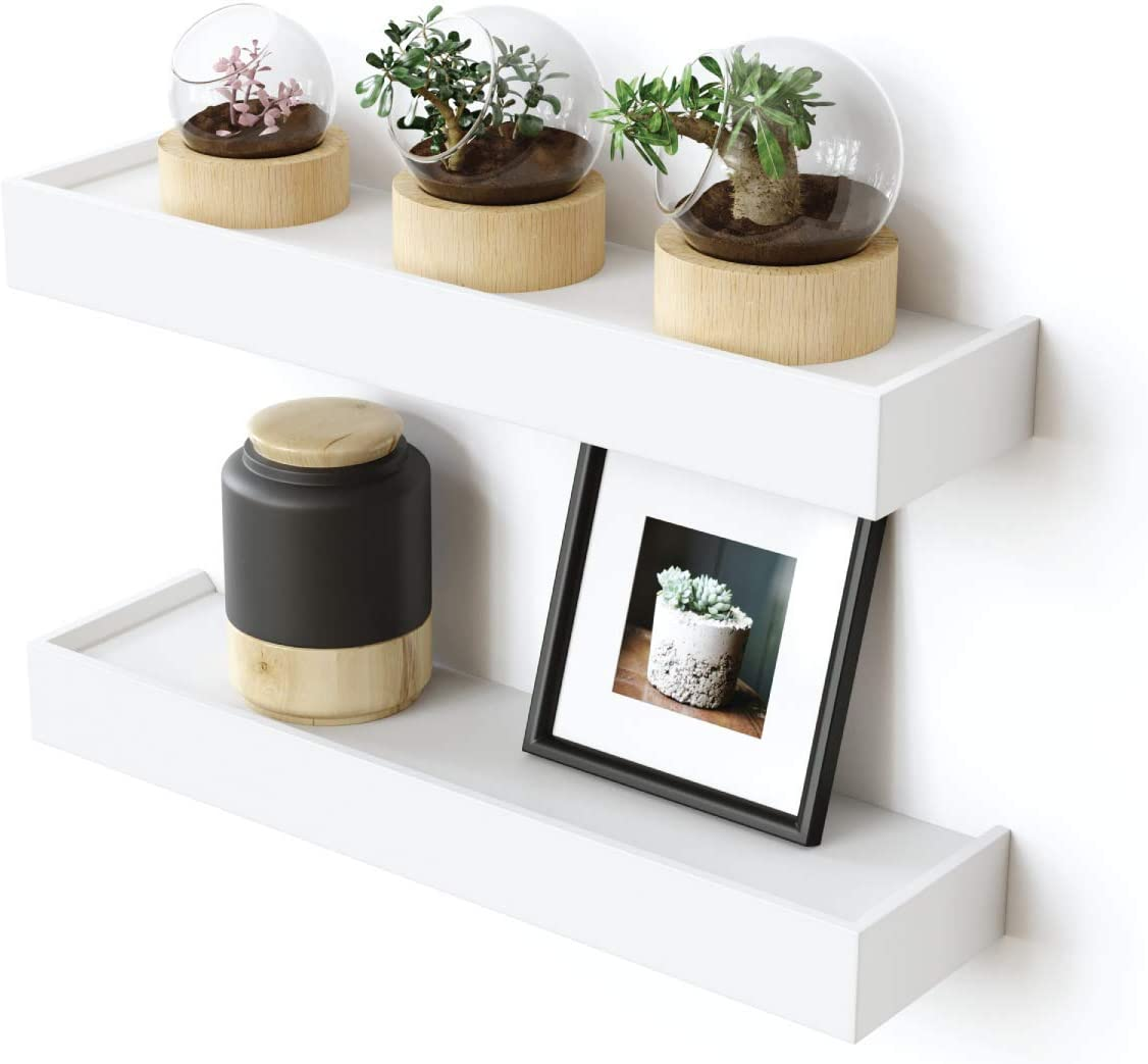 Ballucci Modern Ledge Wall Shelves 16 Set Of 2 Decorative Floating Shelves For Living Room Bedroom Office Or Hallway 16 X 4 X 1 75 White Amazon Ca Home Kitchen