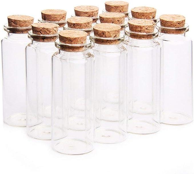36 Danmu Art 30 ml Peque/ño Borrar Botellas de Vidrio Viales Cristal con Tapones de Corcho 1.18 x 2.75