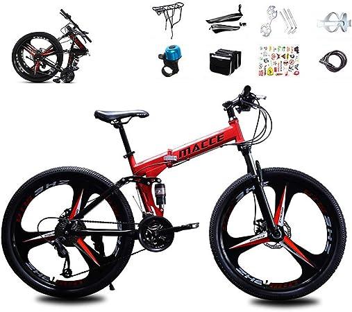 XHCP Bicicleta de montaña de 24 velocidades, 3 radios Ruedas de 26 Pulgadas Freno de Disco