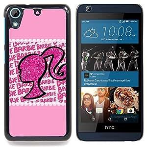 For HTC Desire 626 Case , Silueta de la mujer de Bling del brillo - Diseño Patrón Teléfono Caso Cubierta Case Bumper Duro Protección Case Cover Funda