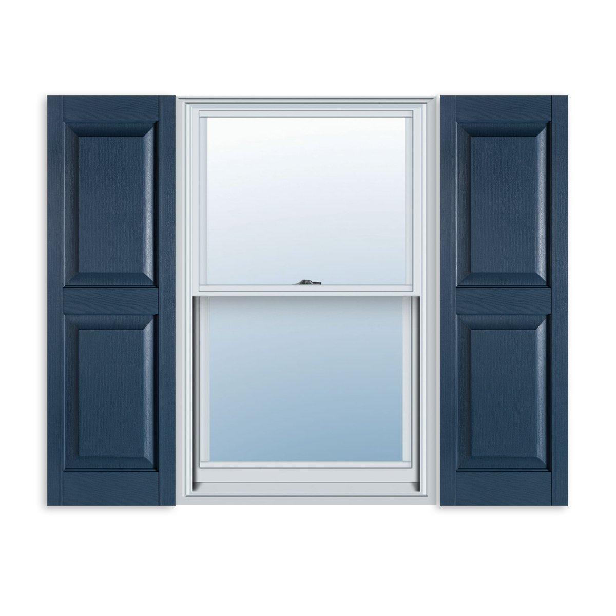 Amazon.com: 15 Inch X 63 Inch Standard Raised Panel Exterior Vinyl Shutter,  Bedford Blue (Pair): Home U0026 Kitchen