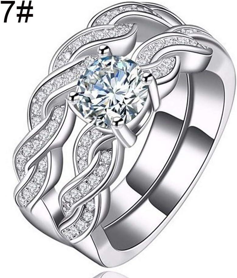 Bague En Zircon Avec Diamants Et Diamants Bijoux De Mode Femmes Cristal Argent Zircon Cubique Bague Bijoux Cadeau