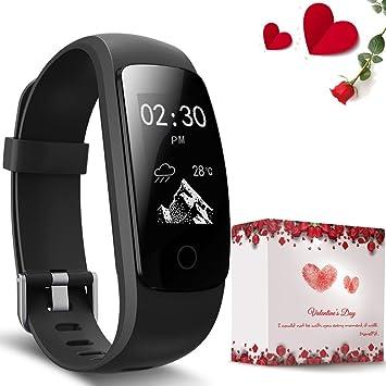 Pulsera Actividad,moreFit Slim Touch Pulsera Inteligente,Relojes Inteligentes Ip67, Pulsera Fitness Tracker Gps,Pulsera Actividad Inteligente Mujer/Hombre ...
