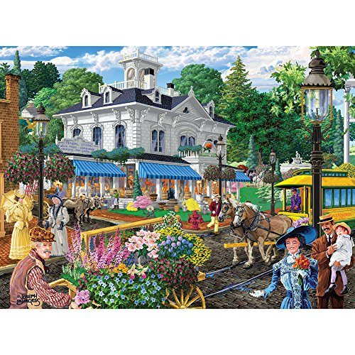 Bits and Pieces - 300 Piece Jigsaw Puzzle for Adults 18X24 - Victorian Spring - 300 pc Jigsaw by Artist Joseph Burgess