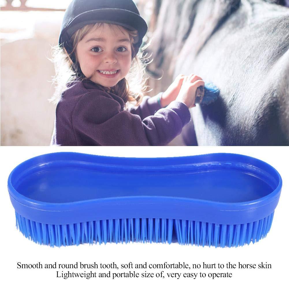 Limpieza Profesional Aseo Cepillo de Silicona Herramienta de Masaje Ecuestre Mantenga el Caballo Limpio y Hermoso Cepillo de Limpieza para Caballos