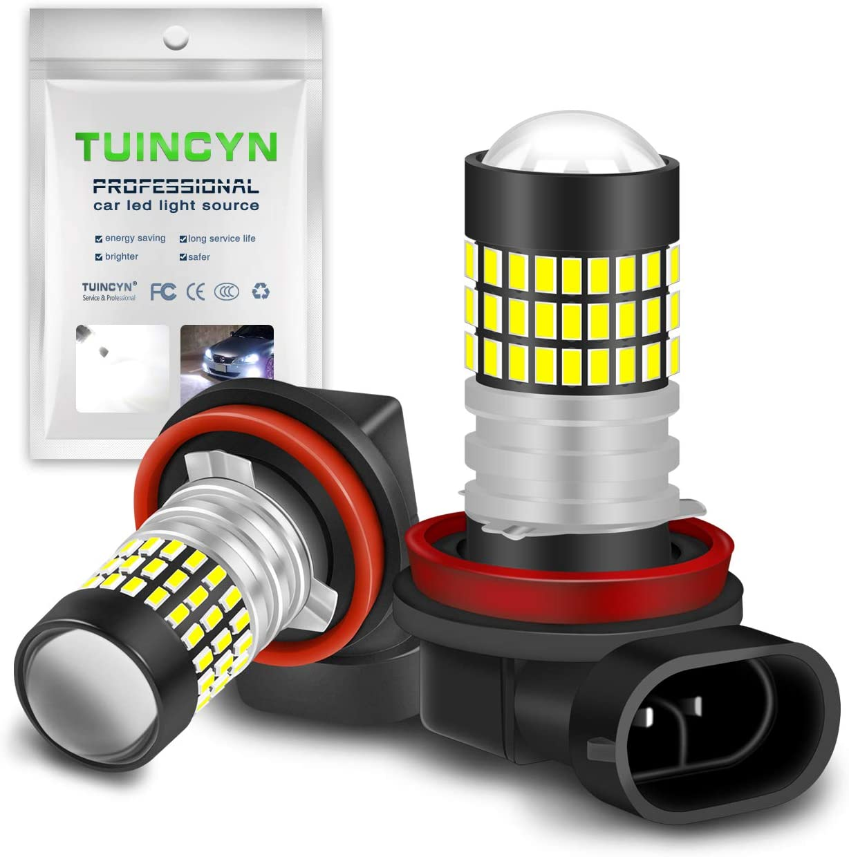 TUINCYN 880 886 890 892 LED Bulbs 900 Lumens 3014 78SMD Chips Super Bright Universally Used for Fog Light Daytime Running Light Automotive Driving Lamp DC 12V-24V 4W Pack of 2