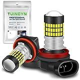 TUINCYN H11 H9 H8 LED Fog Light Bulb 3014 78SMD Lens Super Bright 6500K 900 Lumens DRL Daytime Driving Lamp Car LED…