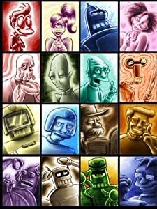 D7559 Futurama Characters Drawing Art TV Show 32x24 Print POSTER