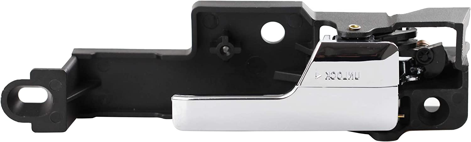 MYSMOT 81702 Interior Front Left (Driver-Side) Chrome Door Handle Compatible with 2006-2012 Ford Fusion/2007-2012 Lincoln MKZ/2006 Lincoln Zephyr/2006-2011 Mercury Milan 6E5Z5422601A