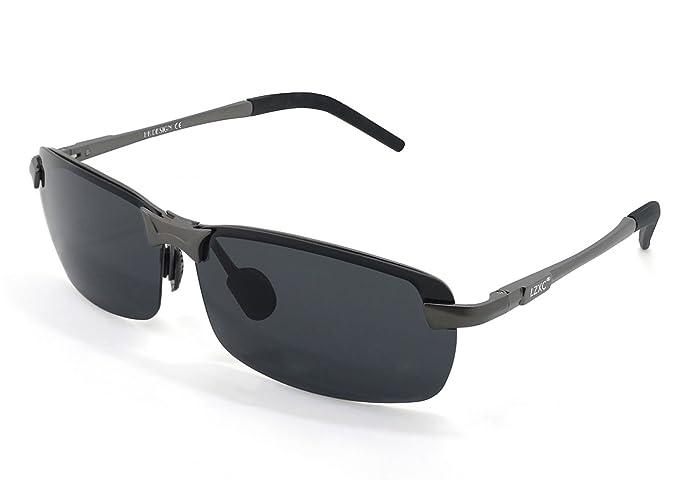 LZXC Polarizado Conducir Gafas De Sol Hombres Mujeres Deporte De Gafas Primavera De Bisagra Irrompible Ultra