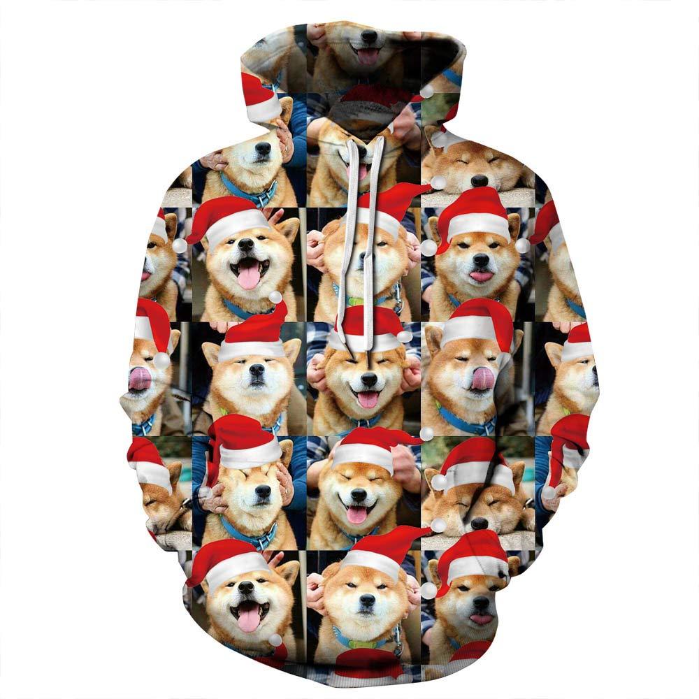 URVIP Unisex Christmas Theme 3D Printed Pullover Fashion Hoodies Sweatshirts QYDM-390 L/XL by URVIP