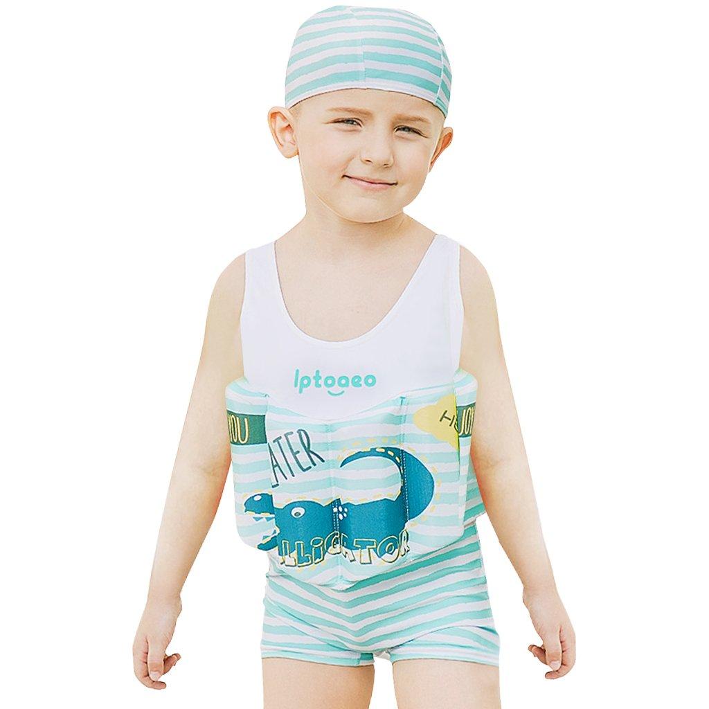 Zilee Niño Flotador Ropa de Natación con Gorra - Dos Piezas Muchachos Traje de Baño Chicos Traje de Buceo Aprender a Nadar: Amazon.es: Ropa y accesorios